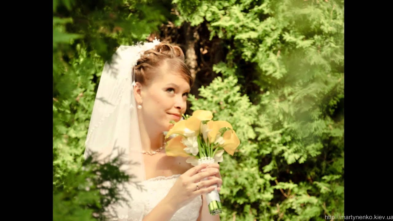 Слайд-шоу к свадьбе от детских фото до свадьбы