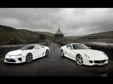 Ferrari 599 HGTE vs. Lexus LFA - CAR and DRIVER