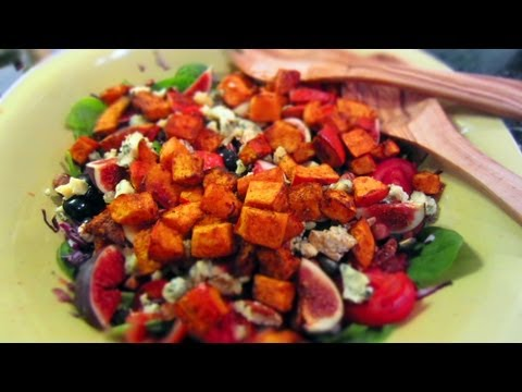 Autumn Pumpkin Spinach Salad Recipe