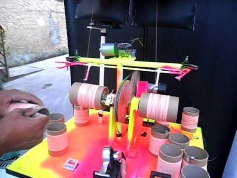 maquina de enrolar linha no tubete - artment rabiola