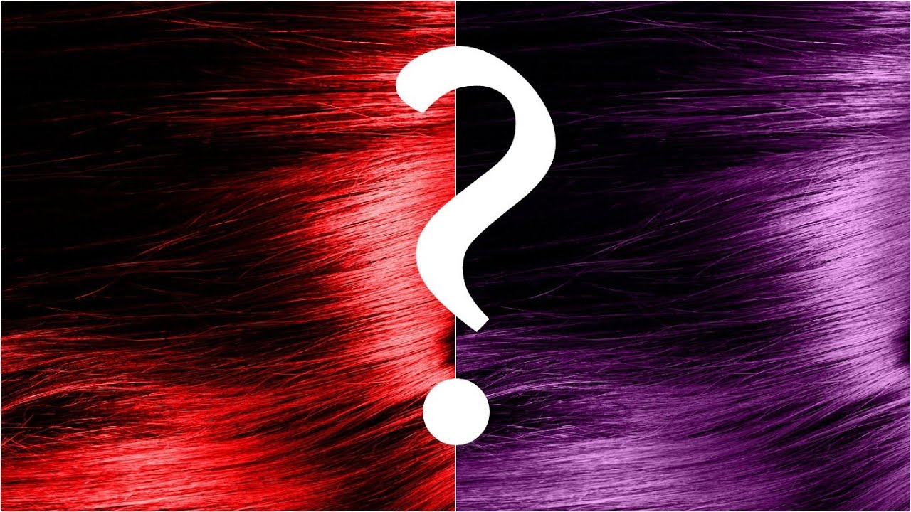 Black with purple tint hair dye