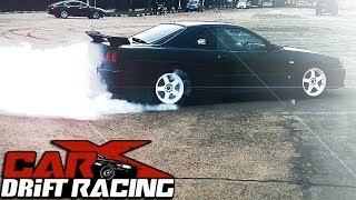 CarX Drift Racing game author KILLS rear tires on his 350hp Nissan Skyline R34 GTT
