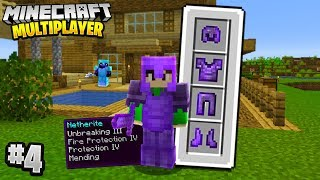 FULL GOD ARMOUR in Minecraft Multiplayer Survival! (Episode 4)