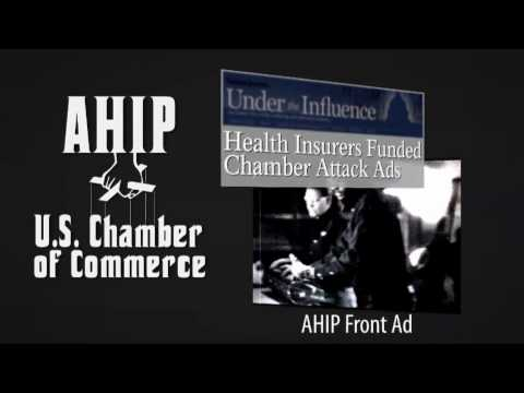 "Like a character from a mob drama, AHIP's laundering their ad money through the U.S. Chamber of Commerce... in their effort to ""whack"" health care reform... ..."