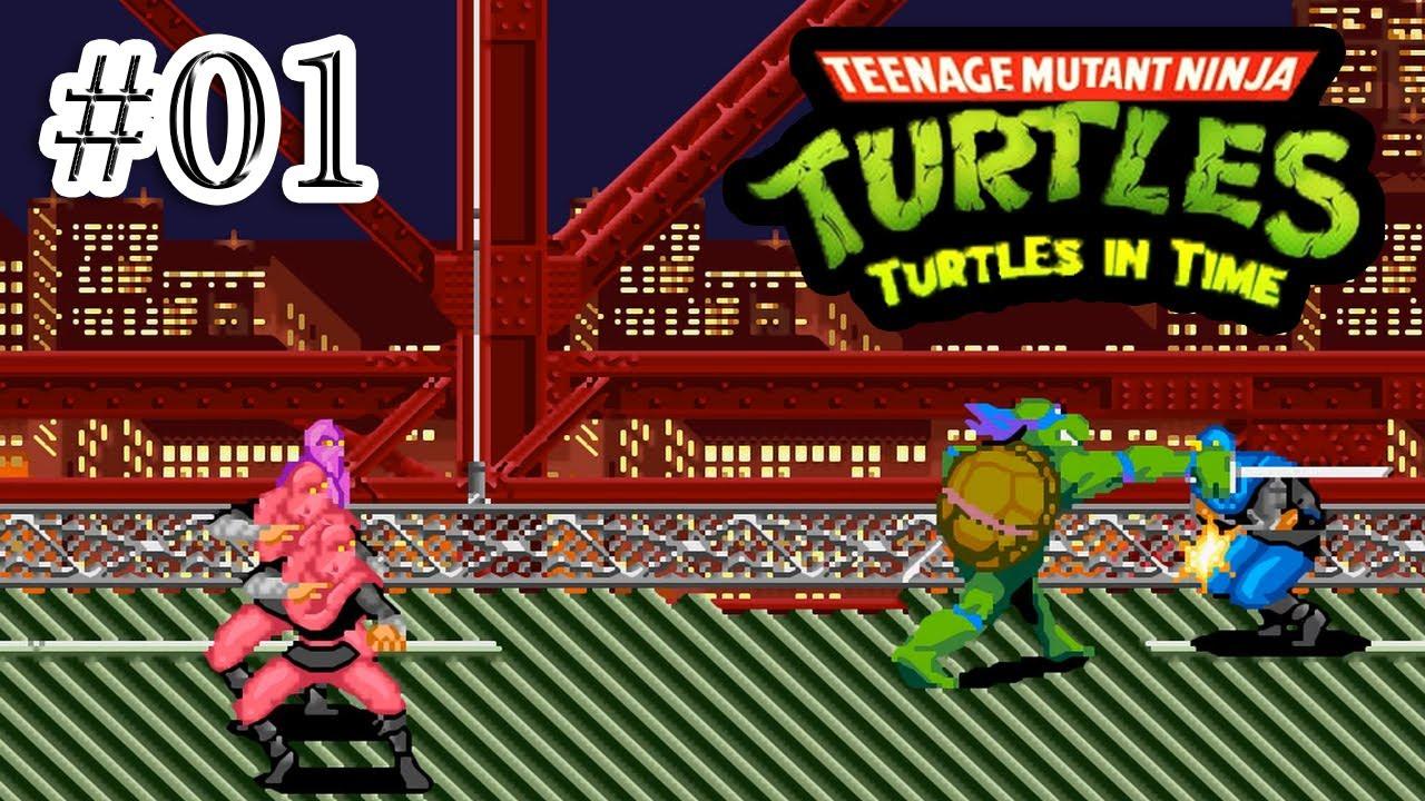 Teenage mutant ninja turtles 4 turtles in time snes part 1 hd