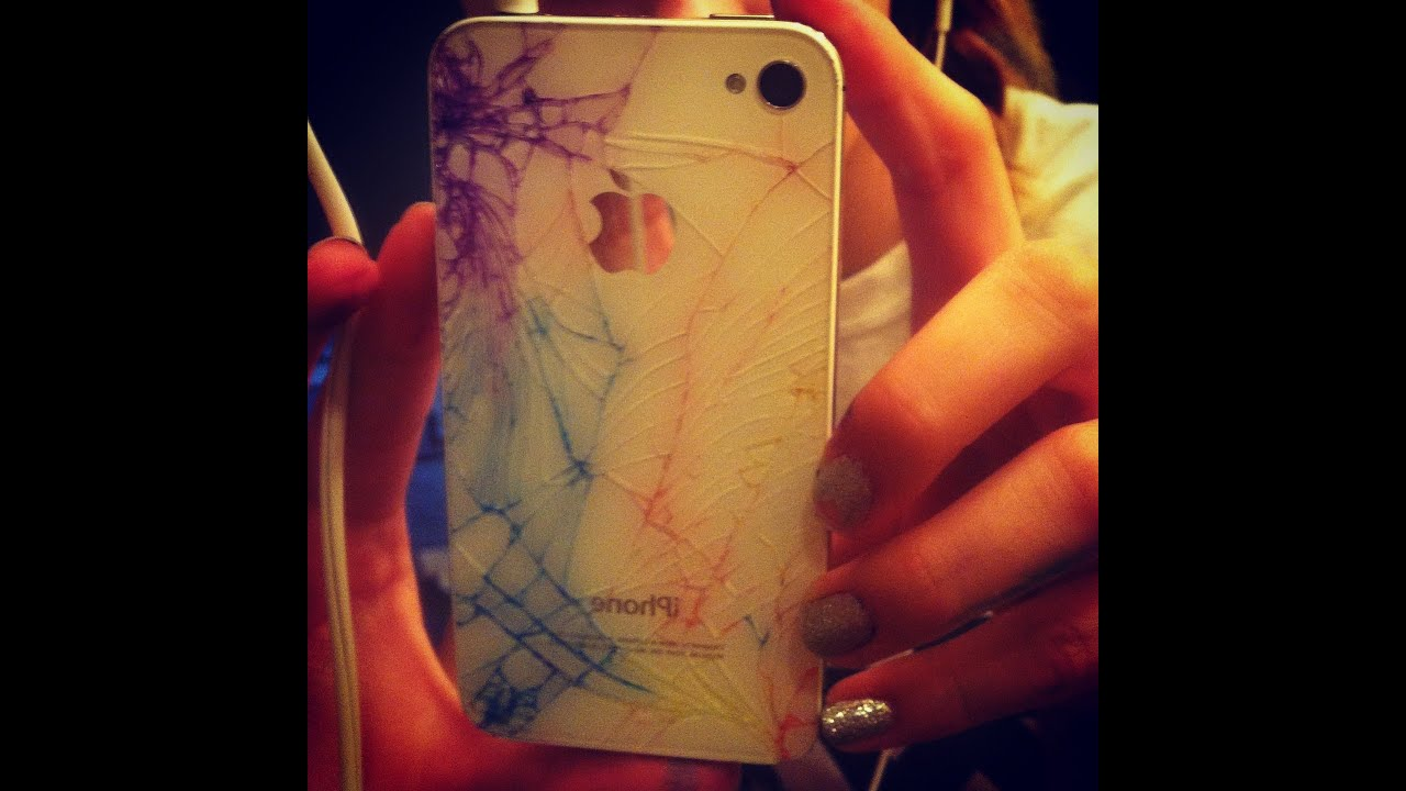 Diy Colorful Cracked Iphone