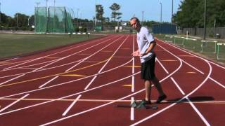 accomplishing a track event of running a 200 meter race If you run around the entire track now let's build a course for the 200 meter sprint let me assume the track consists of two some race events do not have.