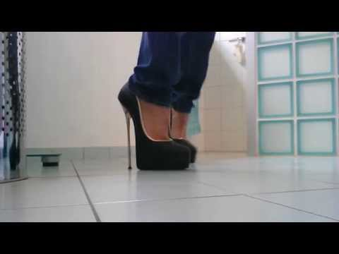 walking in sexy high heels 8 inch 20 cm