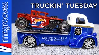 Truckin' Tuesday! '47 Ford COE Flatbed Tow Truck D-Rods by Jada Toys