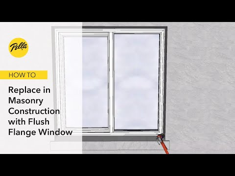 Full Frame Replacement in Masonry Construction for Flush Flange Windows