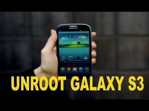 Como Desrootear Galaxy S3 (Unroot)