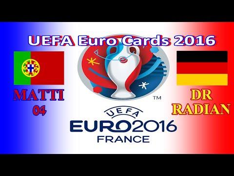 TURNIEJ UEFA EURO CARDS 2016 ☆ PORTUGALIA - NIEMCY ☆ Matti 04 Vs DrRadian