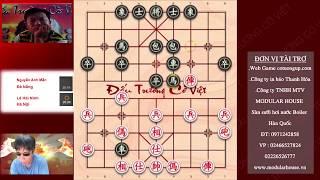 Cao thủ cờ tướng Đà Nẵng NGUYỄN ANH MẪN đối đầu LÊ HẢI NINH HN Vòng 6 dautruongcoviet2019