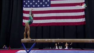 😮Simone Biles the first gymnast to land a double-double dismount✊🏽💯