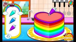 Coking Cake Games | Cute Rainbow Colourful Cake Baking Games