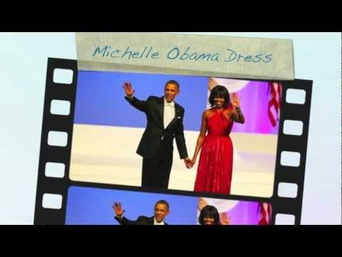 michelle obama dress - obama inauguration red dress