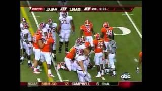 2008 Chick-Fil-A Kickoff Game - #24 Alabama vs. #9 Clemson Highlights