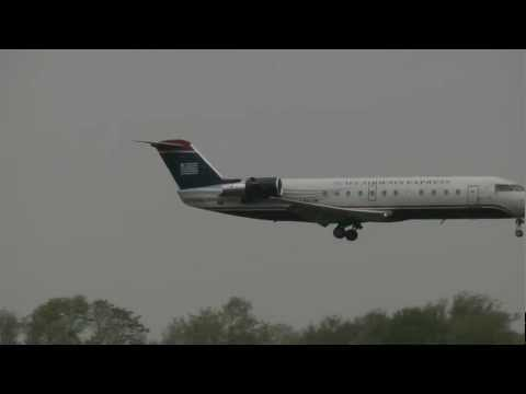 [HD] US Airways Express CRJ-200 Philadelphia Intl Airport