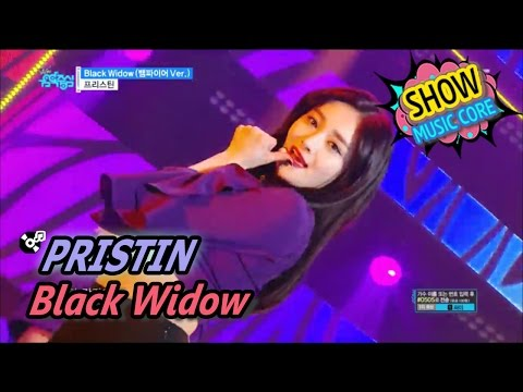 [HOT] PRISTIN - Black Widow, 프리스틴 - 블랙 위도우 Show Music core 20170520