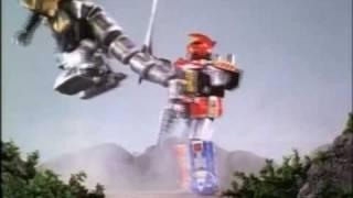 Mighty Morphin Power Rangers Megazord vs Dragonzord