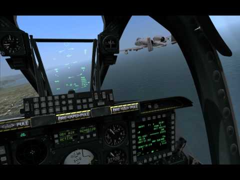 DCS: A-10C - Rob has a birdstrike.