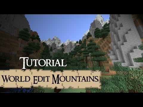 MOUNTAINS World Edit Tutorial Minecraft
