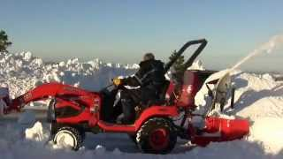 Kubota BX tractor snow clearing and power failures fun
