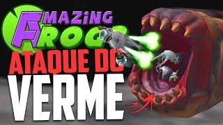 O ATAQUE DO VERME GIGANTE !- Amazing Frog ‹ Bitgamer ›