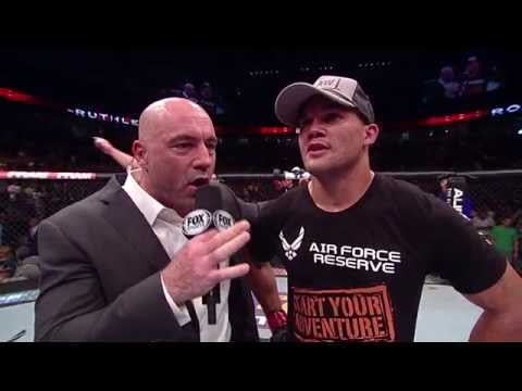 Fight Night San Jose Robbie Lawler PostFight Octagon Interview