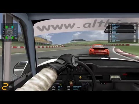 GT Legends - Multiplayer Gameplay - Carrera  - F1 cup 2016 - GP Barcelona - Altbierbude