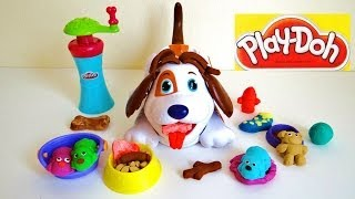 Play Doh Puppies Playset and Kibble Kranker Dog Puppy Cute
