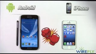 Samsung Galaxy Note II vs Apple iPhone 5 Smartphone Schmackdown by Wirefly