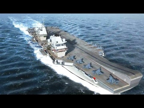 Thales - Queen Elizabeth Class Aircraft Carriers Simulation [720p]