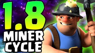 UNBELIEVABLE 1.8 MINER CYCLE! ULTIMATE GRAND CHALLENGE TROLLING! | Clash Royale
