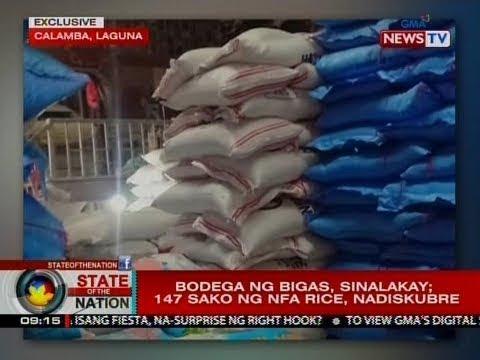 SONA: Bodega ng bigas, sinalakay; 147 sako ng NFA rice, nadiskubre thumbnail