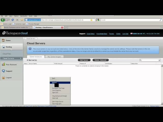 Virtual Server Provisioning (Rackspace)
