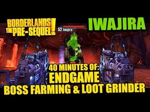 Borderlands: Pre-sequel! Level 50 Boss Farming - Iwajira (& Loot Grinder Action!) video