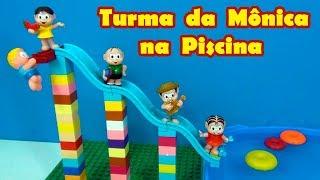 Turma da Mônica na Piscina - Parque aquático da turma da Mônica novo !