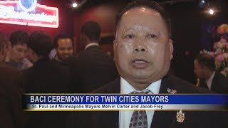 3 HMONG NEWS: HMONG LEADERS HOLD BACI BLESSING FOR THE MAYORS OF ST. PAUL AND MINNEAPOLIS.