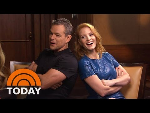 Matt Damon, Jessica Chastain Trade Laughs, Talk 'The Martian' | TODAY
