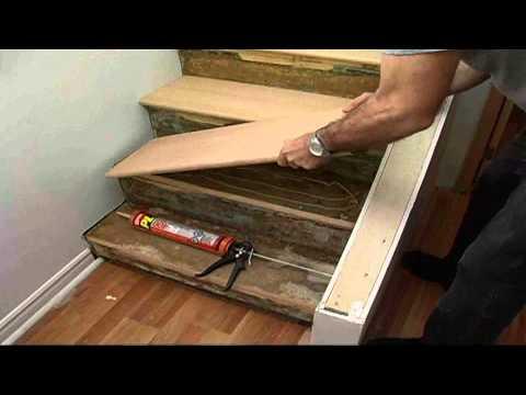 photo comment reparer une marche d'escalier en bois