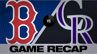 Bogaerts, Devers drive Red Sox in 7-4 win | Red Sox-Rockies Game Highlights 8/28/19