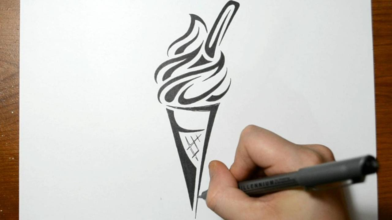 Ice Cream Drawings Drawing an Ice Cream Cone