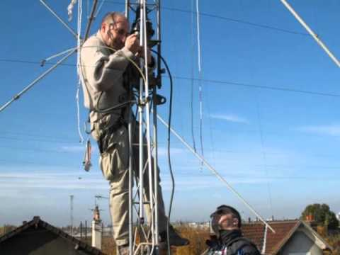 Installation antenne / antenna cubical QUAD 3Elements PKW 10/15/20m