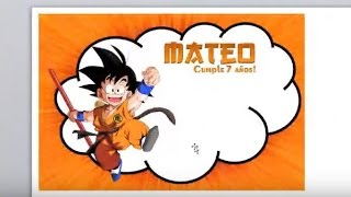 Como diseñar en Office Word / Invitacion de Goku!!
