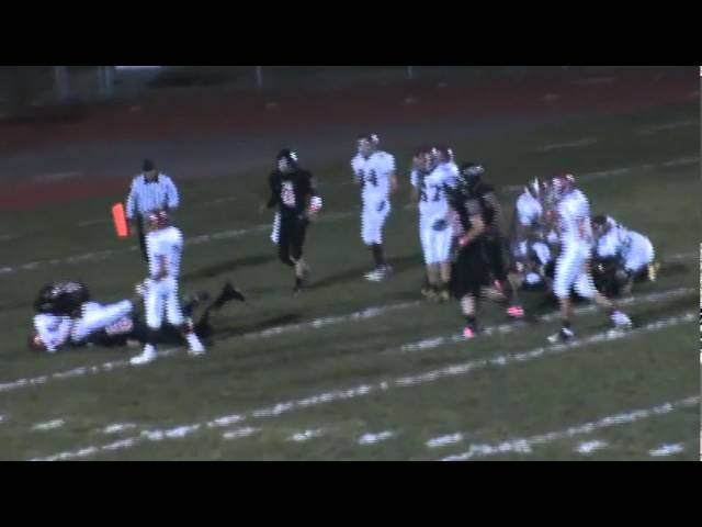 10-21-11 - Tyler Carter scores from 1 yard out (Brush 20, Strasburg 7)