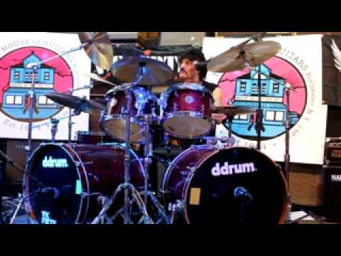 Carmine Appice gives free drum clinic at the House of Guitars in Rochester, NY 1/31/2012