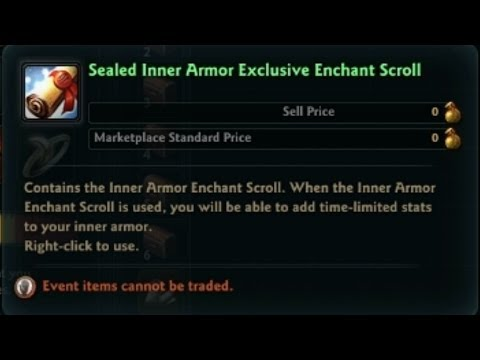 Vindictus Gameplay Sealed Inner Armor Exclusive Enchant Scroll ...