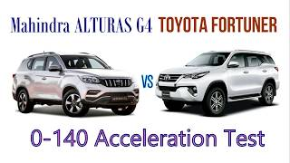 Mahindra ALTURAS G4 vs Toyota Fortuner 2.8 | 0-140 KPH Acceleration Test