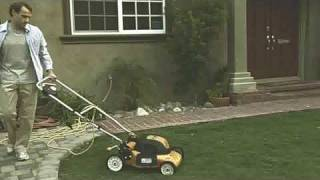 Lawnmower goes out of control